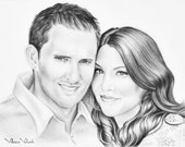 Custom Portrait Pencil Drawing of You and your Pet, Drawing from your photo, Sketch, Portraits by commission, Art, FREE Digital Format