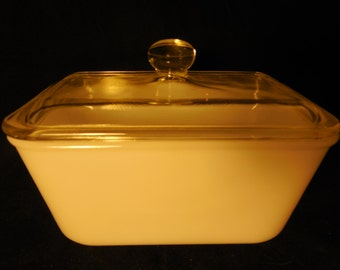 Vintage Glasbake Baking Dish with Lid