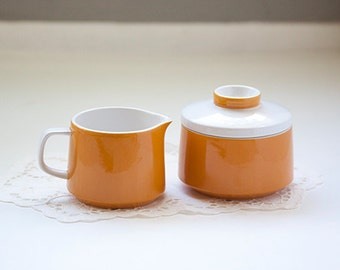 Sugar Bowl and Creamer Set by Mikasa Medeterrania