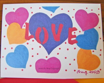 Love l Greeting Card
