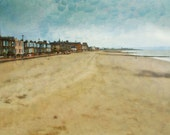 Portobello Promenade near Edinburgh. Fine Art Scottish Landscape Print by Cath Waters.