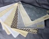 Nautical Baby Burp Cloths - Set of 4