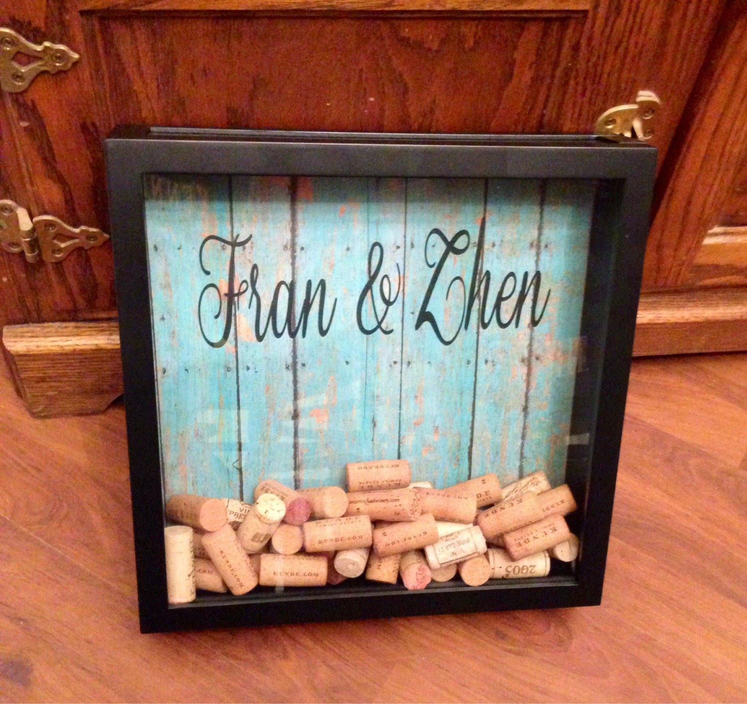 Cork Wedding Memory: Wine Cork Guestbook Drop Top Guest Book Wedding Guest Book