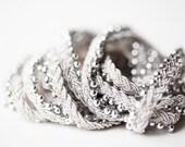 Newborn halo headband - silver - photography prop