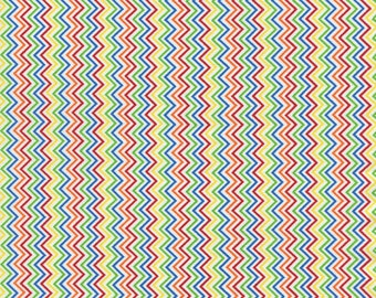 Mini Chevron Stripe Multi, Fat Quarter Cut, Timeless Treasures - Chevron Fabric - Cotton Fabric