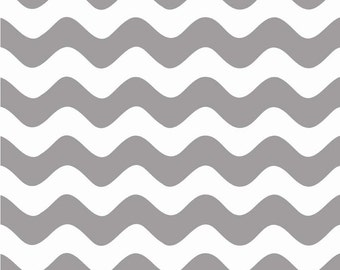 Wave Gray by Riley Blake Designs Fat Quarter Cut - Wave Fabric