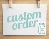 Custom Order jars