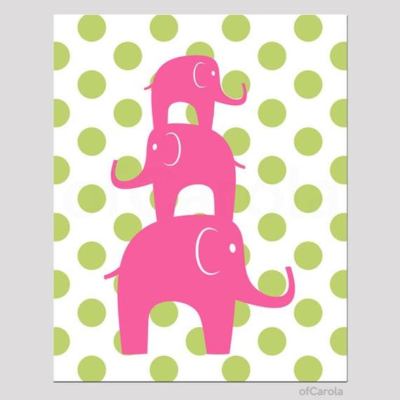 Etsy Personalized Wall Decor : Items similar to personalized elephants wall art print