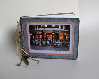 Paris cafe post card journal