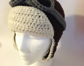 Crochet Aviator Hat Pattern