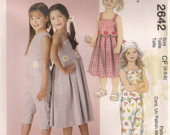 McCall's Sewing Pattern 2642 - Children's Dress, Top, and Capri Pants (2-4, 4-6)