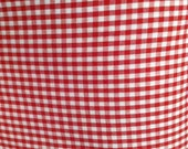 Red Gingham Check, Fabric  By The Yard