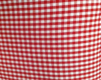 Red Gingham Check, Fabric  By The Yard,