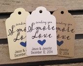 Wedding Gift Tags - Sending You S'more Love - Wedding Favor Tags - Customizable Personalized (WT1451)
