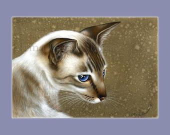 Siamese Cat Print Elegance by Irina Garmashova