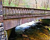 Old Stone Bridge North Carolina 11x14 Limited Edition Print