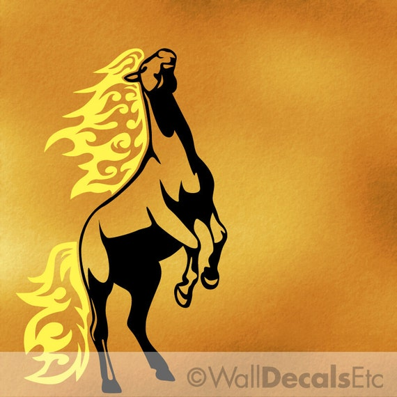 Large Horse Wall Decal for Your Cowboy Room or Wild Mustang Horse Decor