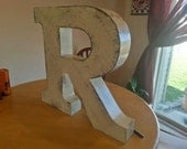 Vintage Marquee Letters Rustic Industrial Metal Channel Letter