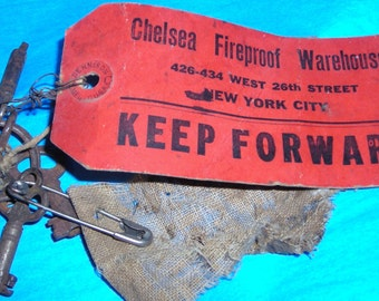 Skeleton Keys With Tag ....1914 ....Chelsea Fireproof Warehouses.......X4