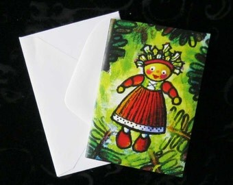 "Gift Cards with Envelopes - ""Holly's Christmas Eve"" - FREE SHIPPING"