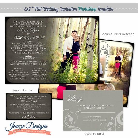 Wedding Invitation Photoshop Template for Photographers - Item WA081