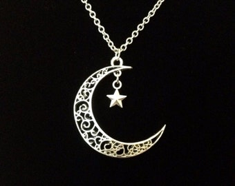 Silver my moon and stars necklace