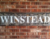 Weathered Ways Rustic Random Wood Picket Name Sign, pre order listing, one to two weeks completion time, See last pic for your wood canvas