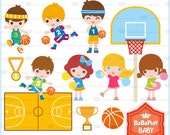 Boys Basketball Race Clip Art ---- Personal and Small Commercial Use ---- BB 0496