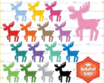 Digital Baby Moose Clip Art ---- Personal and Small Commercial Use ---- BB 0729
