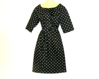 Spotted Dress, Womens Dress, Dresses, Circle Dress, Cotton Dress, Size 12, Size 10, By Rebeccas Clothes