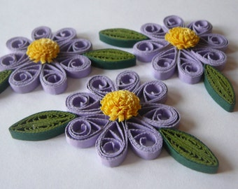 9pc. Paper Quilled Flowers