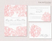 Printable Blush Peony Wedding Invitation