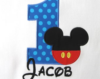 PERSONALIZED SHIRT - BIRTHDAY - Mouse Pants - Any Number - Named White Shirt - Shirt - Tshirt - Infant - Toddler - Clothing
