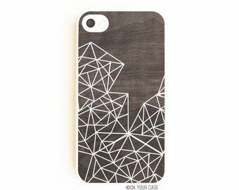 iPhone 4 Case. iPhone 4S Case. Wood Geometric Lines. Phone Case. Phone Case. Geometric. Wood Grain. Minimalist.