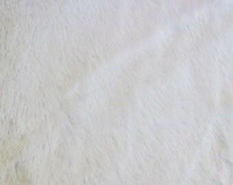 White Minky Mini Shaggy 54 Inch Wide Fabric by the Yard, 1 yard
