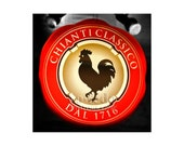 Chianti Sign Photo, Restaurant Art, Kitchen Art, Black Rooster, Tuscany, Italy, Home Bar Decor, Sign Photography