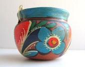 Rustic Tonala Art Pottery Planter