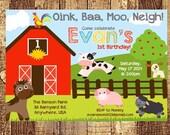 Farm Birthday Invitation, Farm Invitation, Farm Party Invitation, Farm Birthday Invite, First Birthday Invitation, Kids PRINTABLE / PRINTED