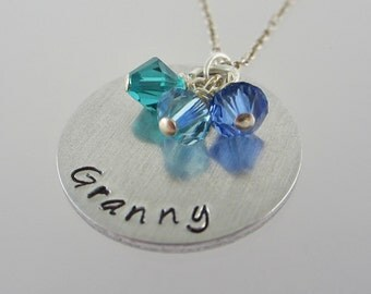 Granny Necklace - Gift for Granny - Grandmother Jewelry - Birthstone Necklace - Mother's Day