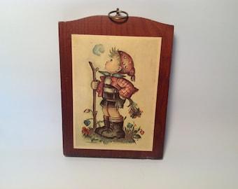 Hummel wooden wall plaque