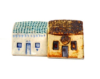 Little Clay Houses , Miniature Houses, Tiny Home ,  Cottages , Small House Collection , Clay Houses