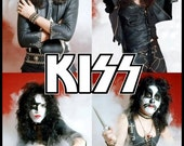 KISS 1974 Group Shot Stand-Up Display - Kiss Band Memorabilia Collectibles Retro Kiss Army Posters Vintage Gift Collection Collectors kiss76