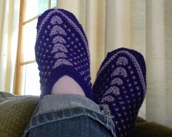 Knitting pattern - Seamless Slip-Stitch Slippers, Knit slippers pattern, womens slippers, House Socks Pattern, knit flat, Siberian slippers