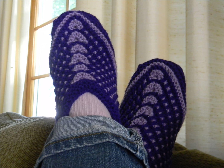 Knitting Pattern Slip On Slippers : Knitting pattern Seamless Slip-Stitch Slippers Knit