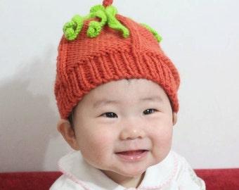 Pumpkin Hat, Kintted Handmade