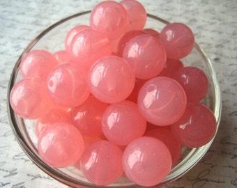 Pink Bubblegum Beads, 20mm Pink Juicy Bead, 10 pcs, Jelly Bead, Translucent Beads, Gumball Bead, Acrylic Bead, Plastic Bead, Necklace Bead