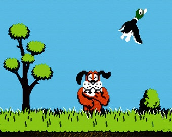 Video Game Print - Duck Hunt - Nintendo Tribute