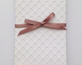 Embossed Card Stock Paper for cardmaking and scrapbooking in your chosen color