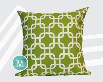 Chartreuse Green Lattice Gotcha Pillow Cover Sham - 18 x 18, 20 x 20 and More Sizes - Zipper Closure - sc1820