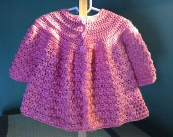 Pink Puff Stitch Sweater Pattern